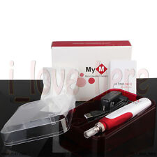 Anti Aging Electric Derma Pen Stamp Auto Micro Needle Roller With 2 Cartridges