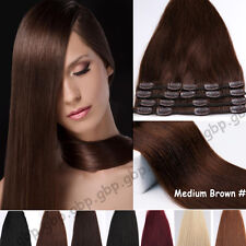 Clip in Remy Hair Extensions 100% Real Human Hair Extensions 8PCS Standard A500