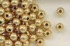 14K Gold Filled 7mm Seamless Round Spacer Beads, Choice of Lot Size & Price