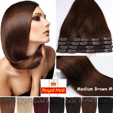 Clip in Hair Extensions 100% Real Remy Human Hair 18 20 22inch Standard UK A496