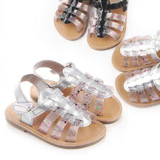 Summer Baby PU Shoes Rubber Sole Infants Girls First Walkers Toddlers Bebe Crib