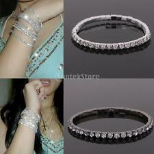 MagiDeal Crystal Rhinestone Stretch Bracelet Bangle Wedding Bridal Wristband