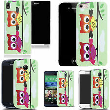 pictoral case cover for most Popular Mobile phones  - owl friends