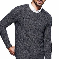 M  L  XL  XXL Mens Cotton Pullover Long Sleeve Round Neck Slim Sweater Nice!!