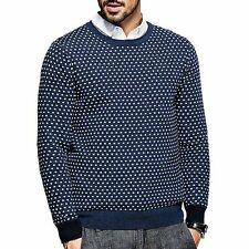 Mens 100% Cotton Pullover Long Sleeve Round Neck Sweater M L XL XXL Nice!!