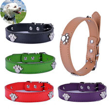 Pet Dog Collar Paw Shaped Collar Charms Pu Leather Collar For small Dog Supplies
