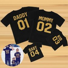 Family Matching Outfits DADDY MOMMY KID BABY T-shirt Couple Clothes Tops