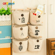 1Pc Hanging Storage Bags Organizer Holder Over Door Wall Hanger Bags Pocket