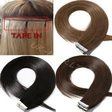 Super Tape In Skin Weft Real Remy Virgin Human Hair Extensions 40pcs 100g I476