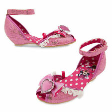 NWT Disney Store Minnie Mouse Pink Costume Dress Shoes SZ 7/8,9/10,11/12.13/1