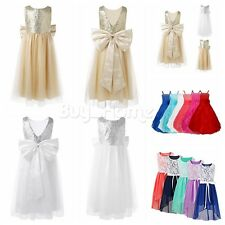 Flower Girl Kid Princess Dress Prom Party Wedding Pageant Formal Dresses Clothes