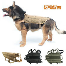 Military Molle Dog Vest Load Bearing Canine Harness Vests Clothes Tactical Army