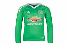 adidas Manchester United 17/18 Kids Away L/S Goalkeepers Football Shirt