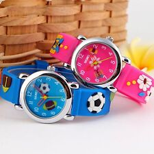 3D Cartoon Lovely Kids Boy Girl Rubber Waterproof Child Quartz Wrist Watch Gifts