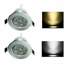 2pcs 3W 12V LED Recessed Ceiling Down Light Bulb Lamp Downlight Warm /Cool White