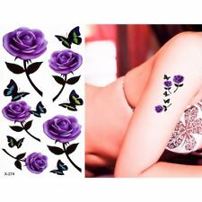 1 Sheet Beauty Small Flower Butterfly Tattoo Sticker Temporary Body Leg Arm Arse