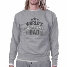 Worlds Greatest Dad Mens Sweatshirt Fathers Day Gift From Daughter