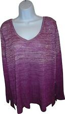 NEW Ladies Next Purple Washed Look Knitted Jumper Size 22 (K.W)