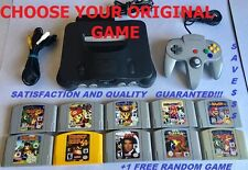 Nintendo 64 Console + 1 Controller+ Choose your Favorite GAME! + 1 FREE GAME