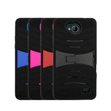 For Straight Talk ZTE Majesty Pro 4G LTE Hard Armor Cover Case Kickstand