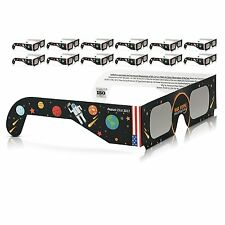 Solar Eclipse Glasses 2017 Galaxy Edition (10 Pack) CE and ISO Standard Viewing&