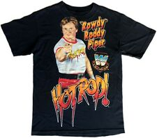 WWF Legends Rowdy Roddy Piper ORIGINAL RARE Vintage 87 Black T-Shirt Hot Rod WWE