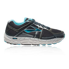 Brooks Addiction 12 Womens Grey Blue Support Running Shoes Trainers 2E Width