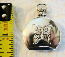 Vintage Sterling Silver 925 butterfly Perfume Bottle Pendant Necklace gorgeous