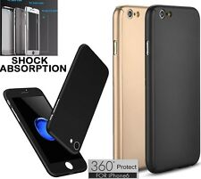 NEW HYBRID 360° HARD ULTRA THIN CASE TEMPERED GLASS for iPhone 6/6S/7/7 PLUS