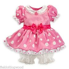 NWT DISNEY STORE Pink MINNIE MOUSE Costume Baby Dress Size 3 6 M Girl