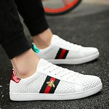 New Fashion Weave Breathable Sneakers Sport Casual Running Board Men's Shoes