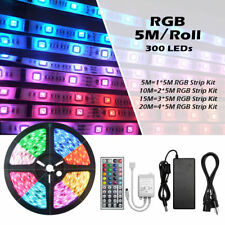 3528 5050 RGB LED STRIP LIGHT COLOUR CHANGING LED TAPE SOUND MUSIC CONTROLLER