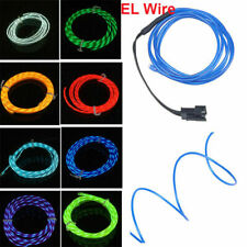 1-5m Flexible Neon Chasing EL Wire Light Strip Car/Party With 3V/12V Controller