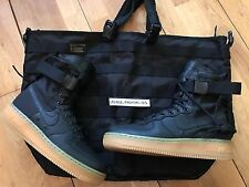 NIKE AIR FORCE 1 SF SPECIAL FIELD AF1 12 11 10 9 8 7 6 + BAG BLACK GUM 2016