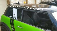 2 side Mini Cooper CHECKERED Stripe Roof  Vinyl Decal Graphic S JCW All Models