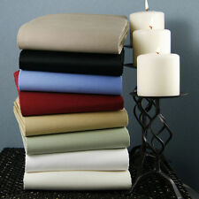 100%Egyptian Cotton 1000 TC Fitted/Flat/Duvet/Pillow All Size Solid Colors
