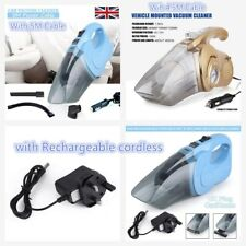 Handheld Wet & Dry Hoover Portable Rechargeable Car Home Vacuum Cleaner 60W 120W