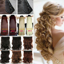 100% Thick Long 1pcs Clip in Hair Extensions Extension Mixed Ombre Dip Dye US T2