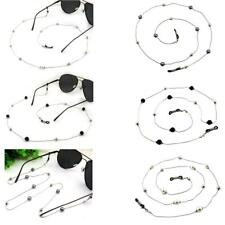 Faux Pearl Beaded Reading Eyeglass Holder Spectacle Sunglass Cord 78cm/30.7''
