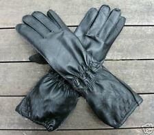 WW2 German FJ/ Paratrooper Black Leather Gloves Early War (Size L)