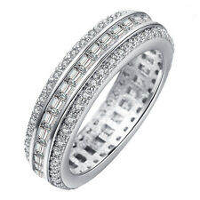 18kt White Gold Filled White Sapphire CZ Wedding Engagement Size 7-10 Ring