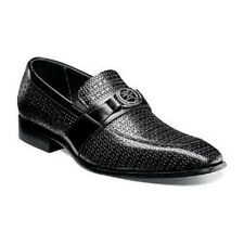 Stacy Adams Mannix Mens shoes slip on Black Leather Dressy 25106-001 Size 9.5M