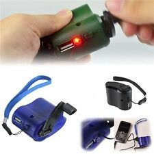 Cell Phone Emergency Charger USB Crank Hand Manual Dynamo For MP4 Mobile PDA