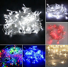50/100/200/300/500 LED Fairy String Electric Lights Wedding Xmas Outdoor/Indoor