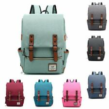 Mens Canvas Backpack School Shoulder Laptop Bag Travel Rucksack Satchel Fashion