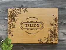 Personalized Wedding Guest Book Rustic Wedding Guestbook Wedding Wood Guest Book