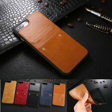 Luxury Slim PU Leather Card Solt Rivet Case Cover For Apple iPhone 6 6S 7 Plus
