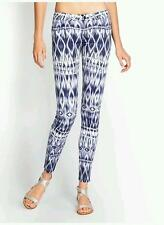 NEW WOMENS GUESS BEVERLY LEGGING SKINNY MID BLUE WHITE ABSTRACT PRINT DIGITAL