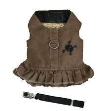XS Small Medium Dog Harness Vest Dress Pet Leash for chihuahua yorkie maltese