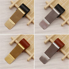 Luxury Metal Pen Holder with PU Leather Loop Clip for Travelers Book Notebook